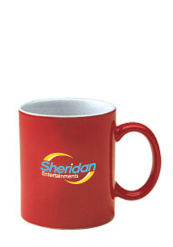 11 oz personalized coffee mug - red out11 oz personalized coffee mug - red out