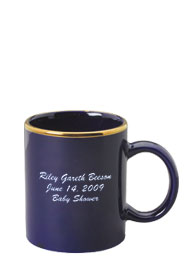 11 oz personalized coffee mug - cobalt blue11 oz personalized coffee mug - cobalt blue