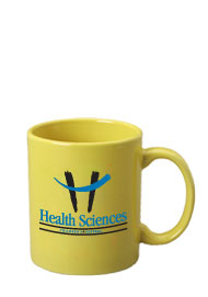 11 oz c-handle mug - yellow