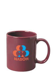 11 oz personalized coffee mug - maroon11 oz personalized coffee mug - maroon