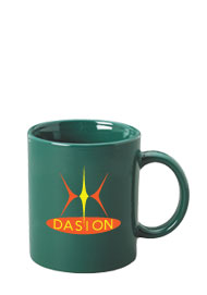 11 oz personalized coffee mug - green11 oz personalized coffee mug - green