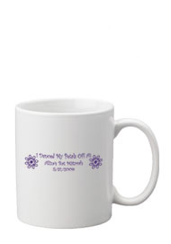11 oz ceramic mug party favor - white