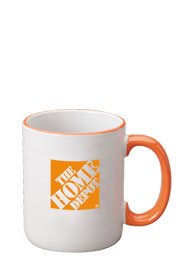 12 oz halo c-handle mug - orange