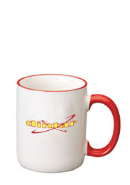 12 oz halo c-handle mug - red