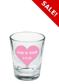 Wedding 1.5 oz shot glass - clearWedding 1.5 oz shot glass - clear