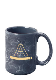 15 oz large marble coffee mug - dark gray