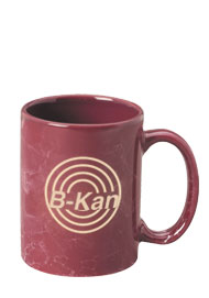 15 oz large marble coffee mug - maroon