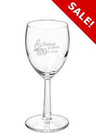6.5 oz grand noblesse wedding wine glass