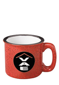 15 oz campfire stoneware speckled mug - red out