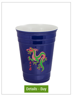 14 oz Waukegan Blue Ceramic Party Cup14 oz Waukegan Blue Ceramic Party Cup