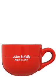 16 oz soup RED Collection mug cappuccino mug