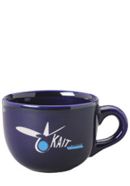 16 oz ceramic latte mug - cobalt blue
