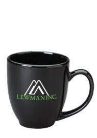 15 oz glossy bistro coffee mugs - black15 oz glossy bistro coffee mugs - black