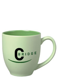 15 oz matte finish custom printed bistro mug  - green15 oz matte finish custom printed bistro mug  - green