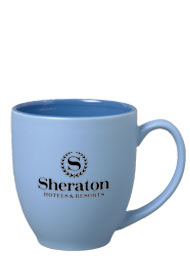 15 oz matte finish customizable bistro mug - blue15 oz matte finish customizable bistro mug - blue