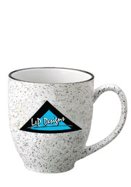 15 oz speckled new mexico bistro mug - white