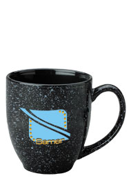15 oz speckled new mexico bistro mug - black