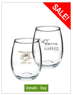 5.5 oz perfection stemless Wedding wine glass5.5 oz perfection stemless Wedding wine glass