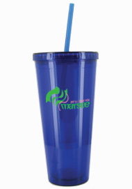 24 oz Royal Blue journey travel cup with lid and straw24 oz Royal Blue journey travel cup with lid and straw