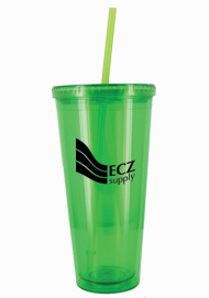 24 oz Apple Green journey travel cup with lid and straw24 oz Apple Green journey travel cup with lid and straw