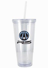 24 oz Custom Clear Journey travel cup with lid and straw24 oz Custom Clear Journey travel cup with lid and straw