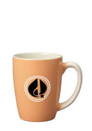 12.5 oz san diego pastel mug - peach out - white in