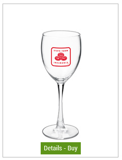 8 oz montego personalized wine glass