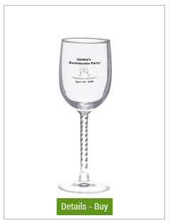 9 oz madeleine customized wine glass