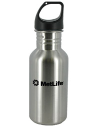 16 oz silver junior excursion stainless steel sports bottle