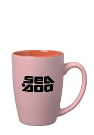 16 oz matte finish pastel coffee cup - pink