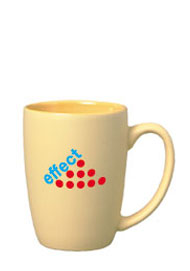 16 oz matte finish pastel coffee cup - yellow