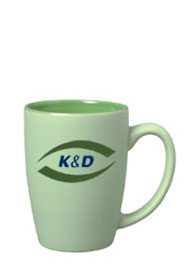 16 oz matte finish pastel coffee cup - green