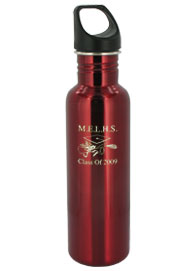 stainless steel 26 oz excursion sports bottle - red