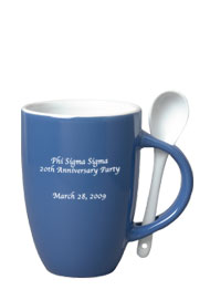 12 oz spoon coffee mug - celestial blue