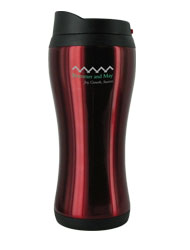 14 oz stainless steel red urbana travel mug14 oz stainless steel red urbana travel mug