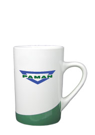 12 oz beaverton coffee mug - green