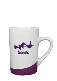 12 oz beaverton coffee mug - purple