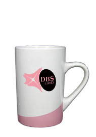 12 oz beaverton coffee mug - pink
