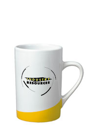 12 oz beaverton color curve mug - yellow12 oz beaverton color curve mug - yellow