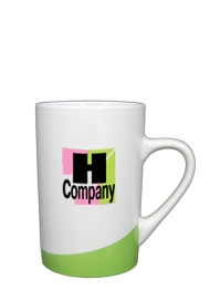 12 oz beaverton color curve mug - lime green12 oz beaverton color curve mug - lime green