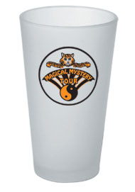 16 oz frosted customized pint glass