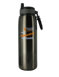 26 oz charcoal quench stainless steel sports bottle26 oz charcoal quench stainless steel sports bottle