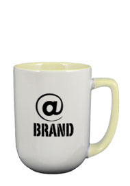 17 oz bakersfield two tone coffee mugs - cream
