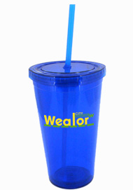 16 oz royal blue journey travel cup with lid and straw16 oz royal blue journey travel cup with lid and straw