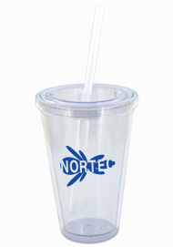 16 oz clear journey travel cup with  lid and straw16 oz clear journey travel cup with  lid and straw