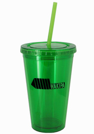 16 oz Custom Apple Green Journey travel cup16 oz Custom Apple Green Journey travel cup