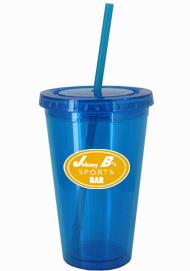 16 oz Aqua Blue journey travel cup with lid and straw16 oz Aqua Blue journey travel cup with lid and straw