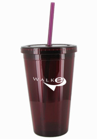 16 oz Maroon Journey travel cup with straw16 oz Maroon Journey travel cup with straw