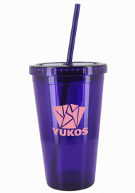 16 oz Purple journey travel cup with lid and straw16 oz Purple journey travel cup with lid and straw