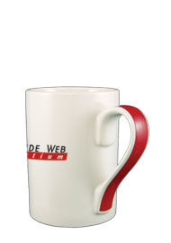 13 oz orlando coffee mug w/ red handle